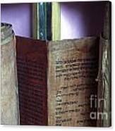 Ancient Torah Scrolls From Yemen  Canvas Print