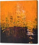 Ancient Wisdom Orange Brown Abstract By Chakramoon Canvas Print