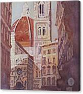And Suddenly The Duomo Canvas Print