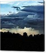 And The Rains Came A Down Canvas Print
