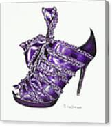 ...and Toes To Match - Purple Canvas Print