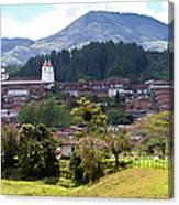 Andean Town Canvas Print