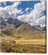Andes Mountains - Peru Canvas Print