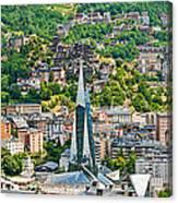 Andorra La Vella City Canvas Print