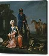 Andrea Soldi Portrait Of Henry Lannoy Hunter In Oriental Dress Canvas Print