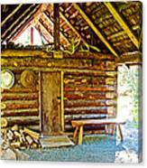 Andrew Berg's Homestead Cabin At Kenai National Wildlife Refuge In Soldotna-alaska Canvas Print