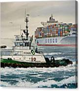 Andrew Foss Assisting Cosco Canvas Print
