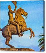 Andrew Jackson - Paint Canvas Print