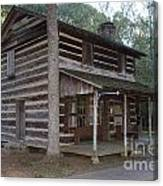 Andrew Logan Log Cabin Ninety Six National Historic Site Canvas Print