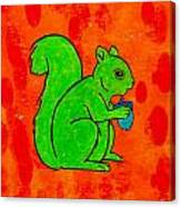 Andy's Squirrel Green Canvas Print