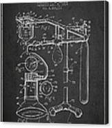 Anesthetic Machine Patent From 1919 - Dark Canvas Print