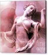 Angel Art Dreaming - Fantasy Ethereal Spiritual Angel Art Wings  Canvas Print