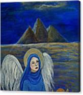 Angel From Eygpt Called Lapis Lazueli Canvas Print