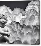 Angel In The Clouds Canvas Print