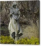 Angel In The Garden Canvas Print