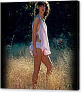 Angel In The Grasses 3 Canvas Print