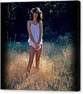 Angel In The Grasses Canvas Print