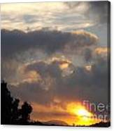 Angel In The Sunrise Canvas Print