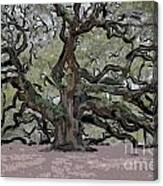 Angel Oak Digital Art Canvas Print