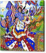 Angel Of American Patriotism Canvas Print