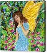 Angel Of The Garden Canvas Print