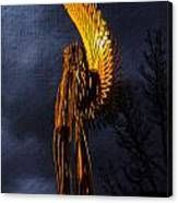 Angel Of The Morning Textured Canvas Print