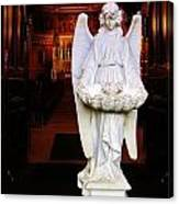 Angel Statue Offers Holy Water Canvas Print