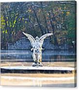 Angel On A Misty Lake  Canvas Print