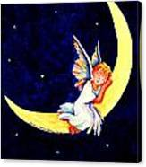 Angel On The Moon Canvas Print