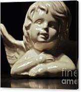 Angel On The Table Canvas Print