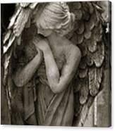 Angel Photography Spiritual Angel  - Guardian Angel In Prayer - Angel Praying  Canvas Print