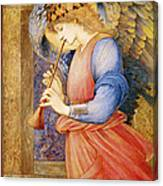 Angel Playing A Flageolet Canvas Print
