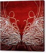 Angel Wings Crimson Canvas Print