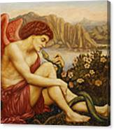 Angel With Serpent Canvas Print
