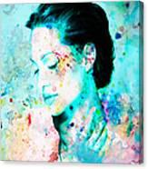 Angelina Jolie Heart And Soul Canvas Print