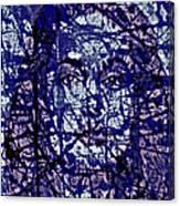 Angelina Jolie Splatter 1c Canvas Print