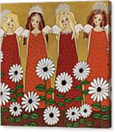 Angels And Dasies Canvas Print