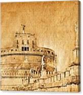 Angels Bridge And Castle Canvas Print
