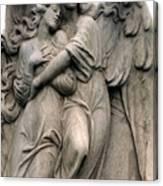 Angels Embracing - Angels Dreamy Romantic Angel Art - Guardian Angel Art  Canvas Print