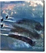Angels Inna Clouds Canvas Print