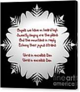 Angels We Have Heard On High Snowflake Canvas Print