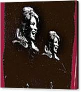 Angie Dickinson Laughing Collage Young Billy Young Set Old Tucson Arizona 1968-2013 Canvas Print