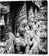 Angkor Beautiful Apsaras Canvas Print