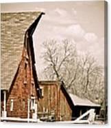 Angle Top Barn Canvas Print