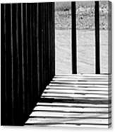 Angles And Shadows - Black And White Canvas Print