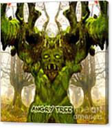 Angry Tree Forest Defender Canvas Print