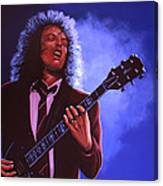 Angus Young Of Ac / Dc Canvas Print