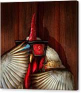 Animal - Chicken - Movie Night  Canvas Print