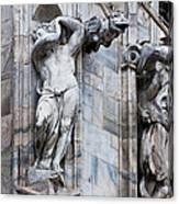 Animal Gargoyles Duomo Di Milano Italia Canvas Print