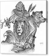 Animal Kingdom Canvas Print